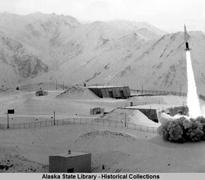 Nike Hercules missile launch, November 21, 1960. ASL-P175-173, Alaska State Library